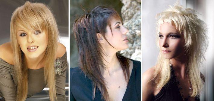 Стрижки на средние волосы каскад с короткой макушкой на средние волосы