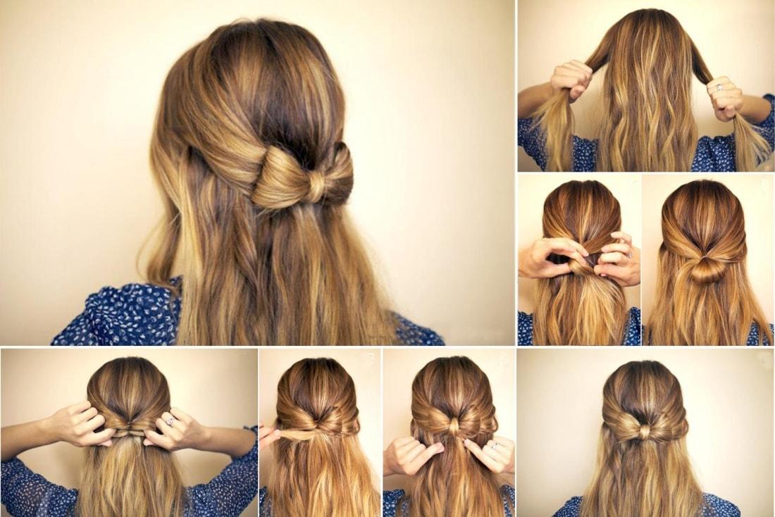 Прически на длинные волосы в школу простые