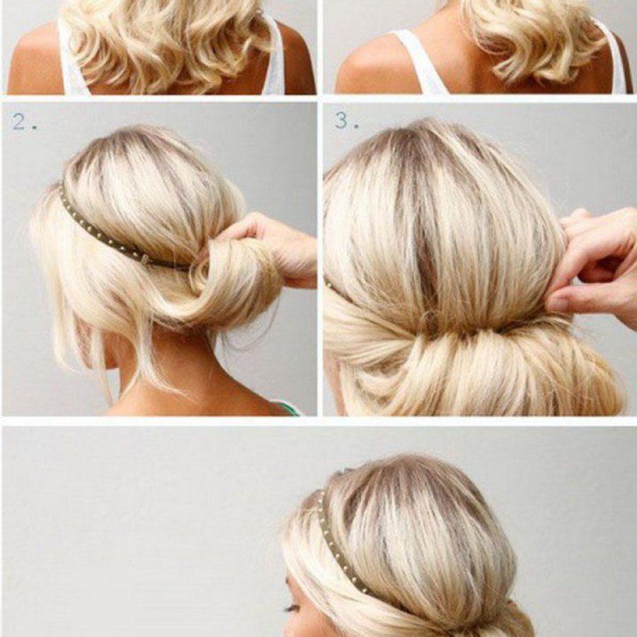 Ободок для волос силиконовый