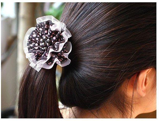 Как сделать красивые резинки для волос