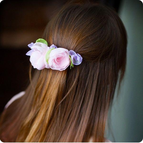 Заколки для волос цветы