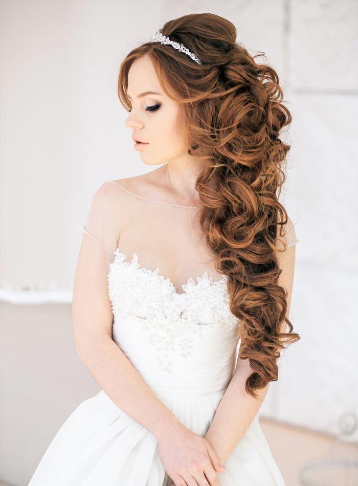 Причёски для длинных волос на свадьбу