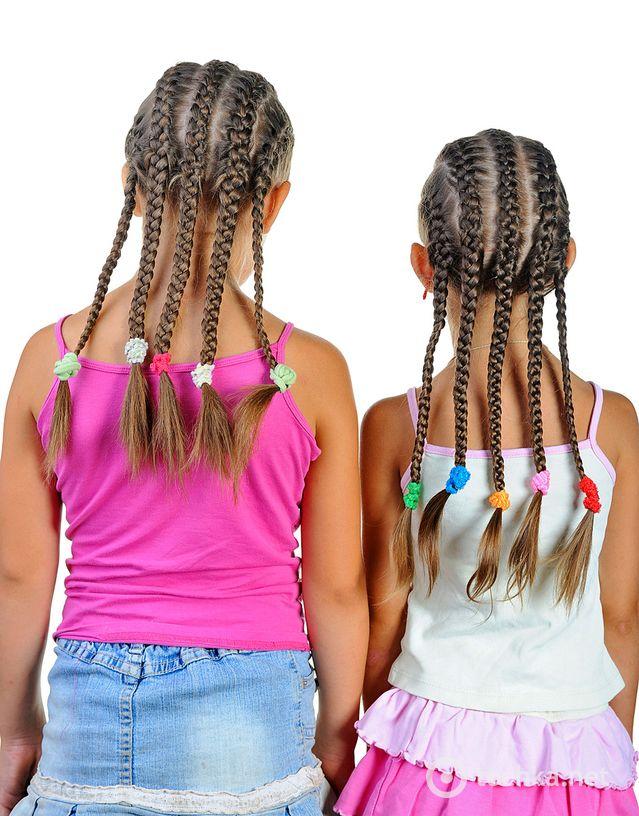 Плетем африканские косички для девочек