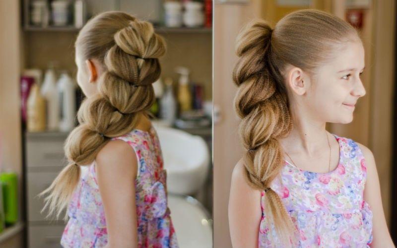 Интересные причёски на длинные волосы для девочек