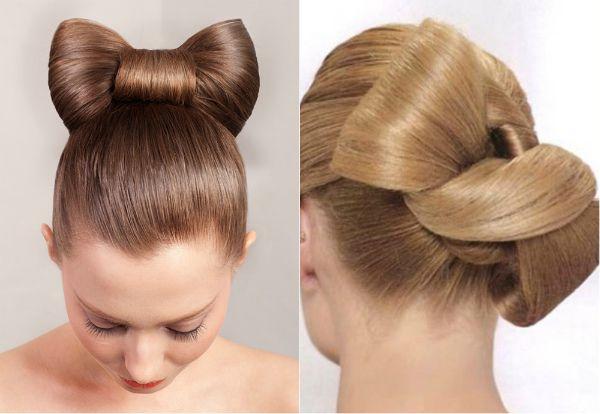 """Бант"""" из волос"""
