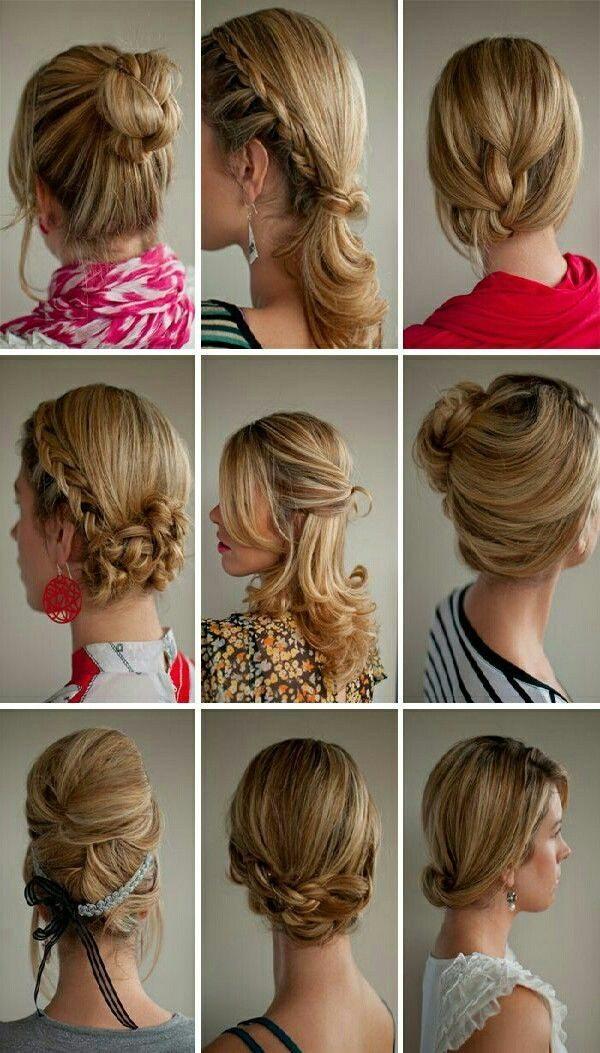 Причёски для на средние волосы в домашних условиях