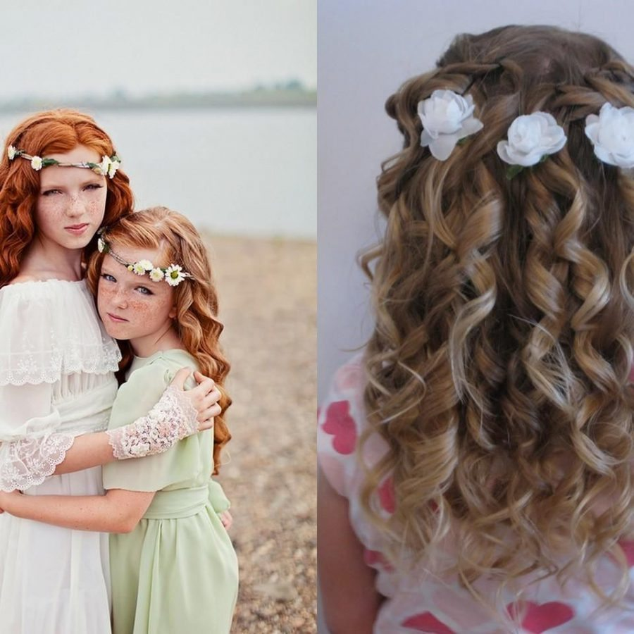 Причёски на свадьбу ребёнку