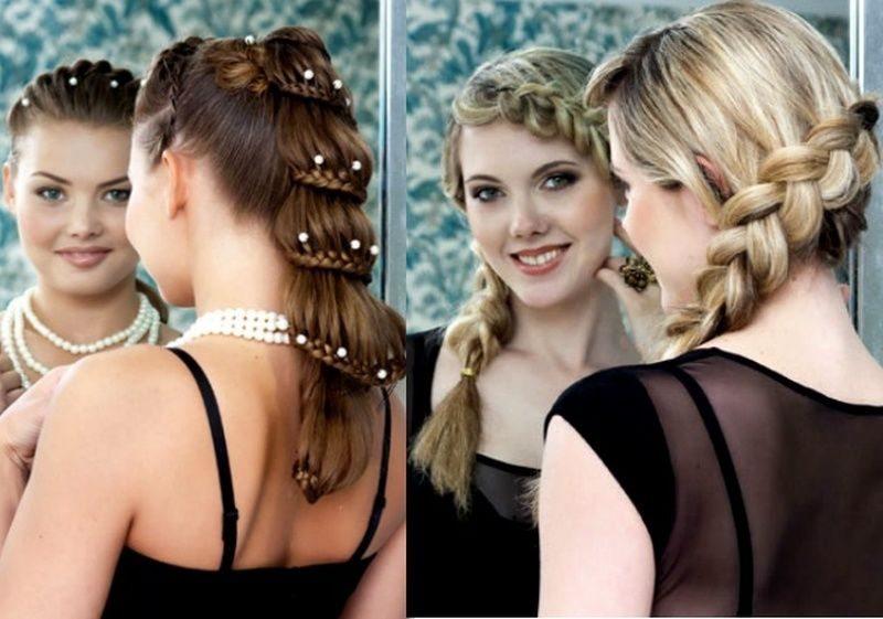 КОСЫ на выпускной для длинных волос