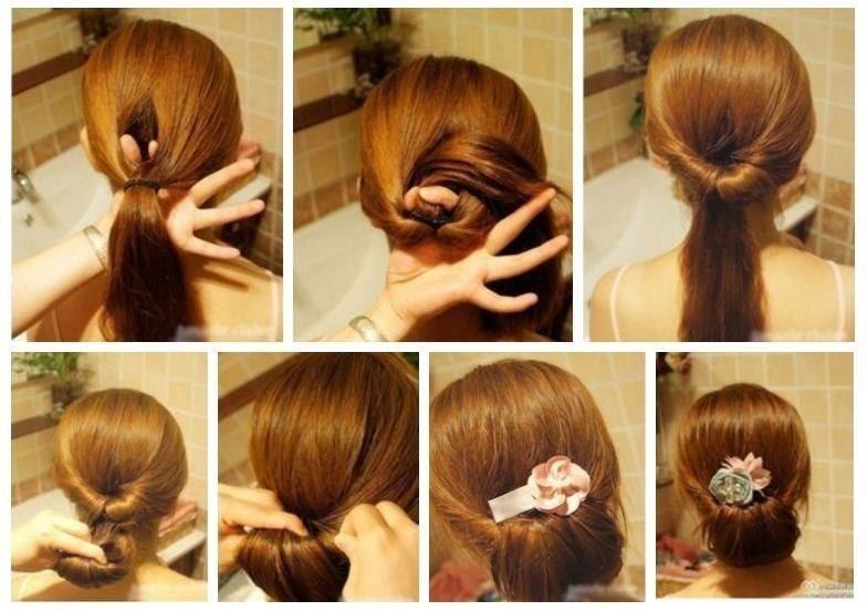 Лёгкие и красивые причёски женские