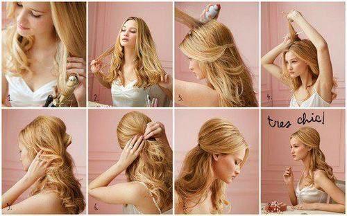 Легкие причёски женские