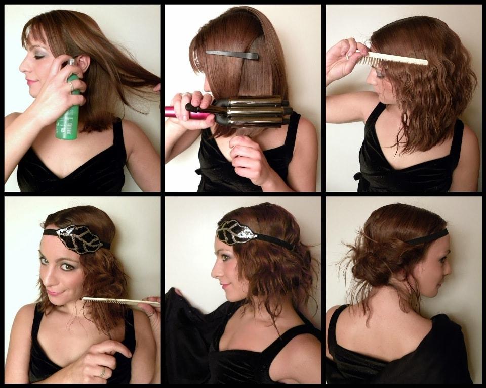 быстрые прически на волосы до плеч