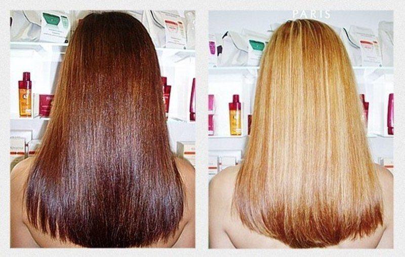 Осветление волос с помощью перекиси отзывы