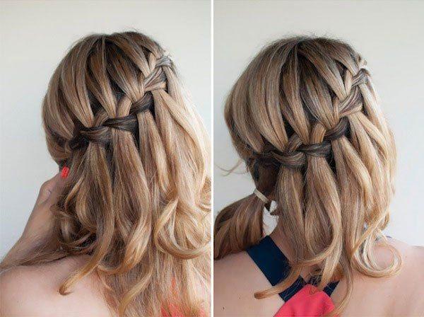 Прически с косами на средние волосы своими руками