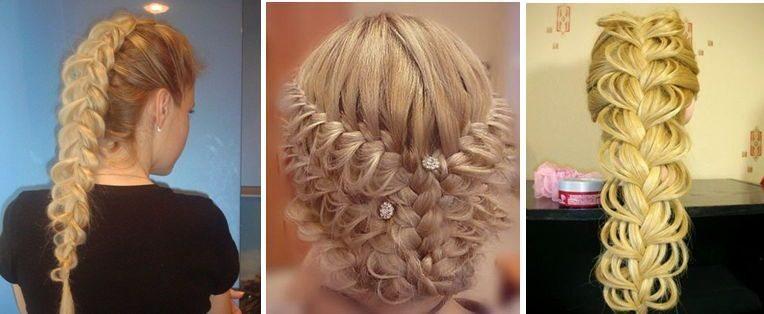 Плетем ажурные косы