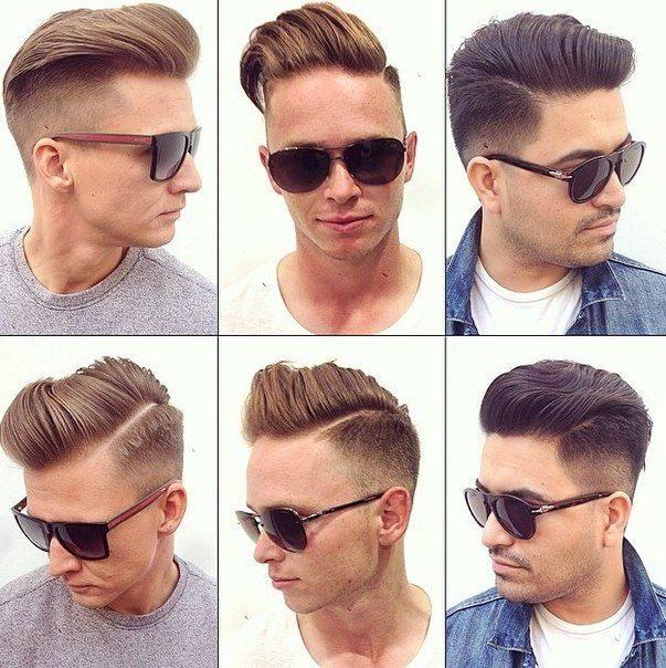 стрижки мужские с выбритыми висками фото