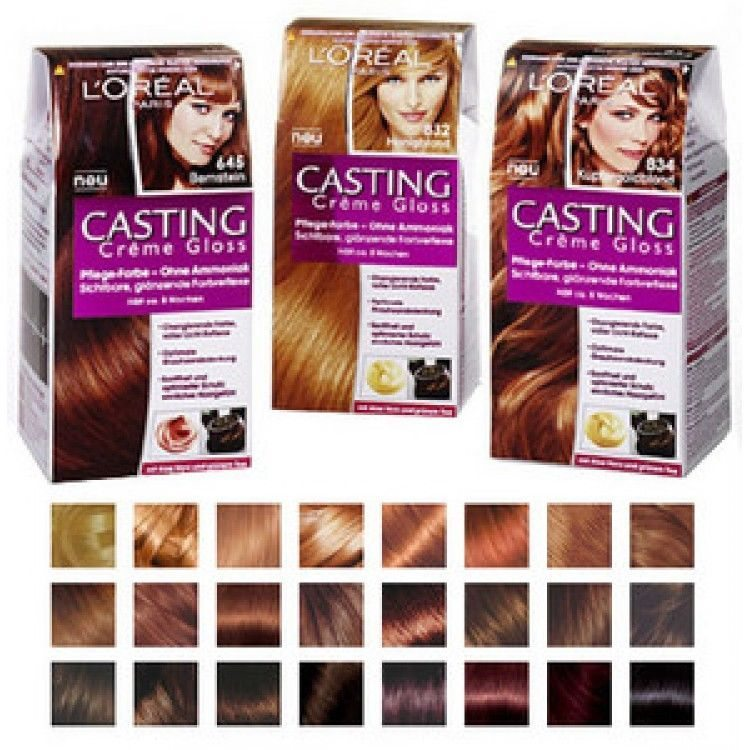 Краска для волос лореаль палитра цветов фото