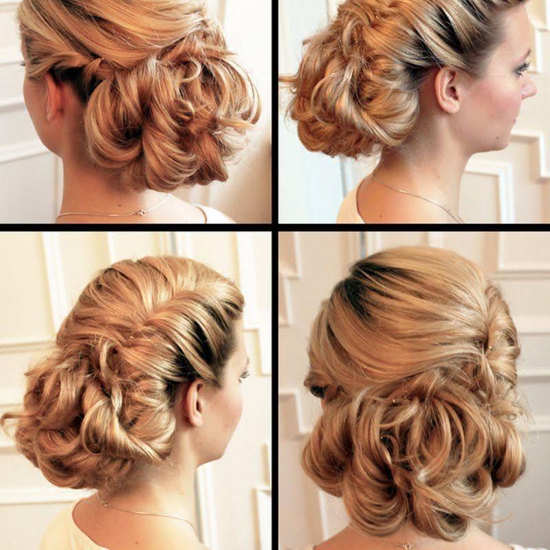 Сделать красивую прическу на средние волосы вечерние