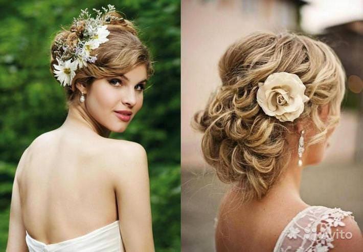 Прически на средние волосы на свадьбу подружки невесты