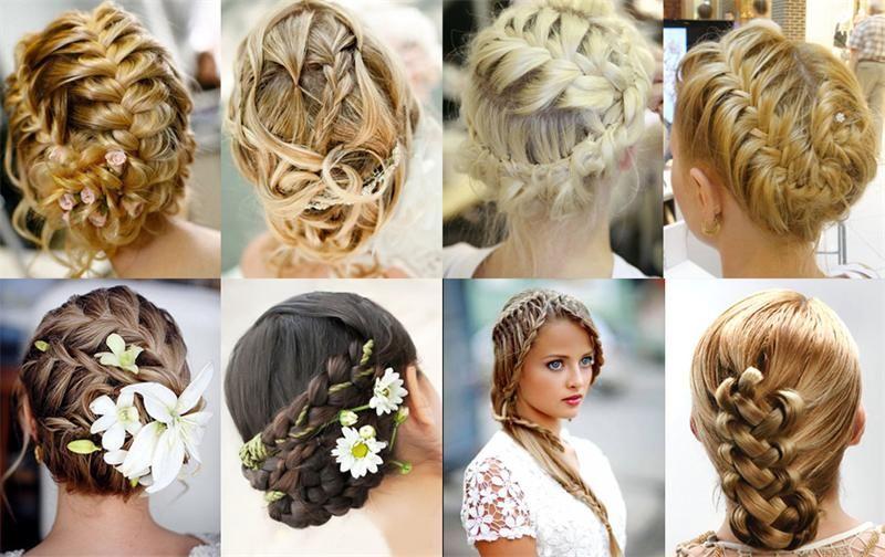 Красивые косы на бок средние волосы