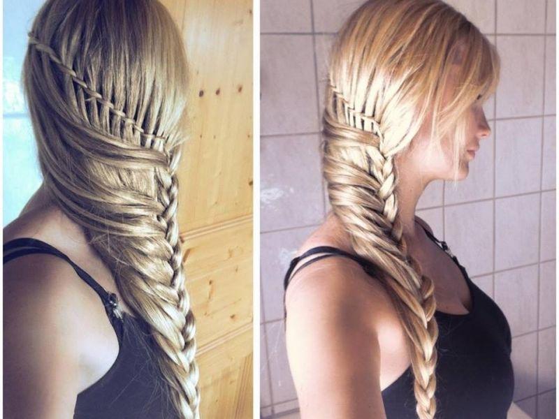 Волосы на бок на длинные волосы