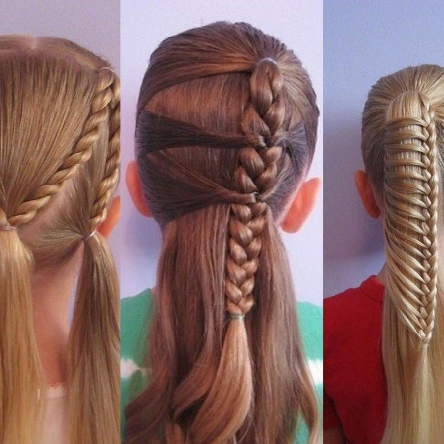 Плетение кос на длинные волосы ребенку