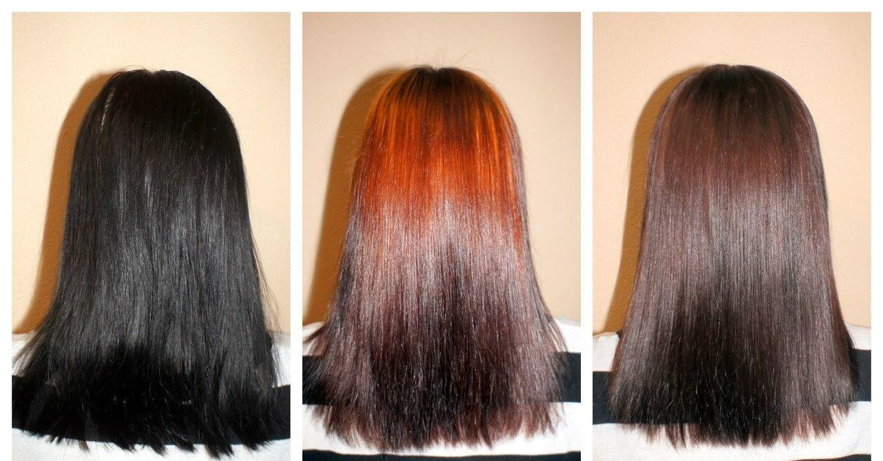Смывка для волос на черные волосы в домашних условиях
