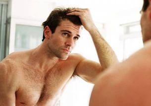 Интенсивное выпадение волос у мужчин