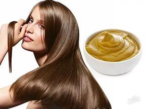 Горчичный порошок и репейное масло для волос