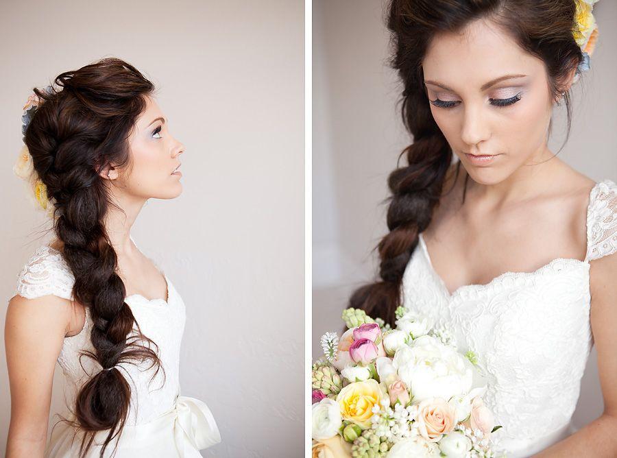 Прически для венчания на длинные волосы