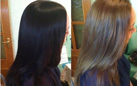 Как вывести черный цвет волос: смывка черного цвета 74