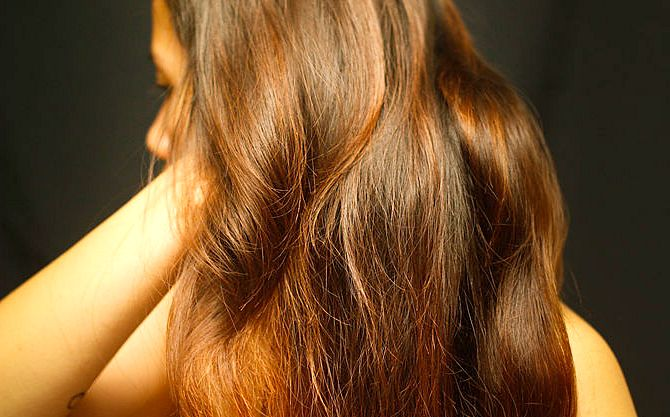 Домашняя маска для блеска и гладкости волос