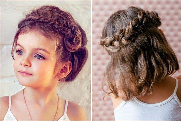 детские прически на волосы средней длины фото