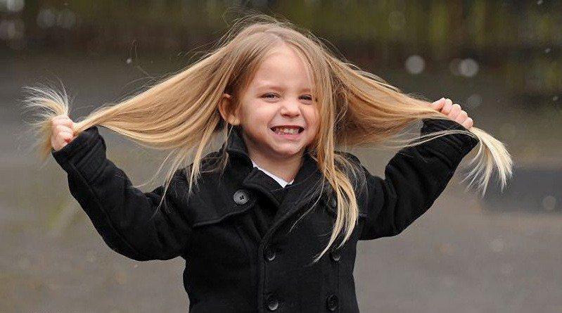 Густые волосы у ребенка