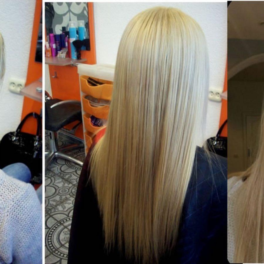 окрасить волосы после мелирования