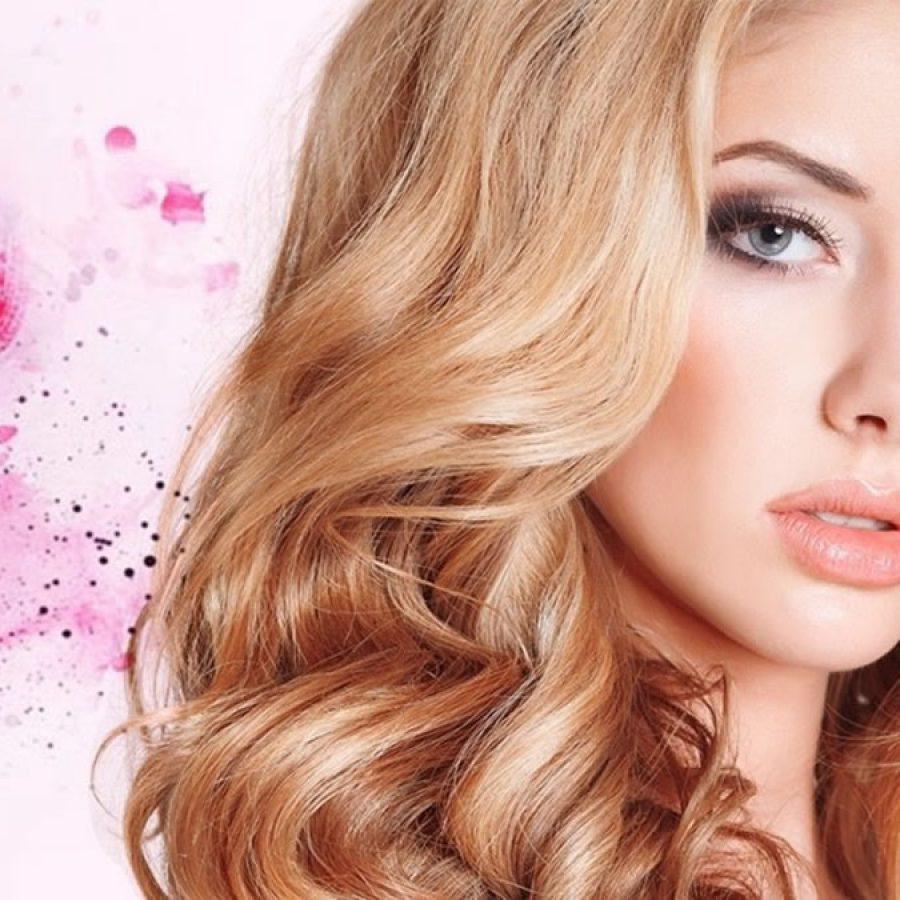 Мелировка у блондинки