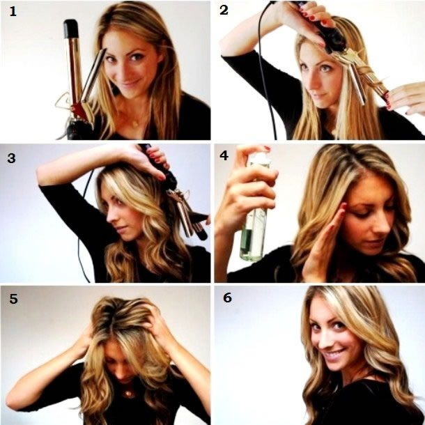 Как правильно завивать волосы щипцами