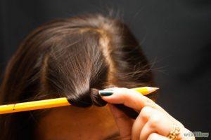 Накручивание волос карандашом
