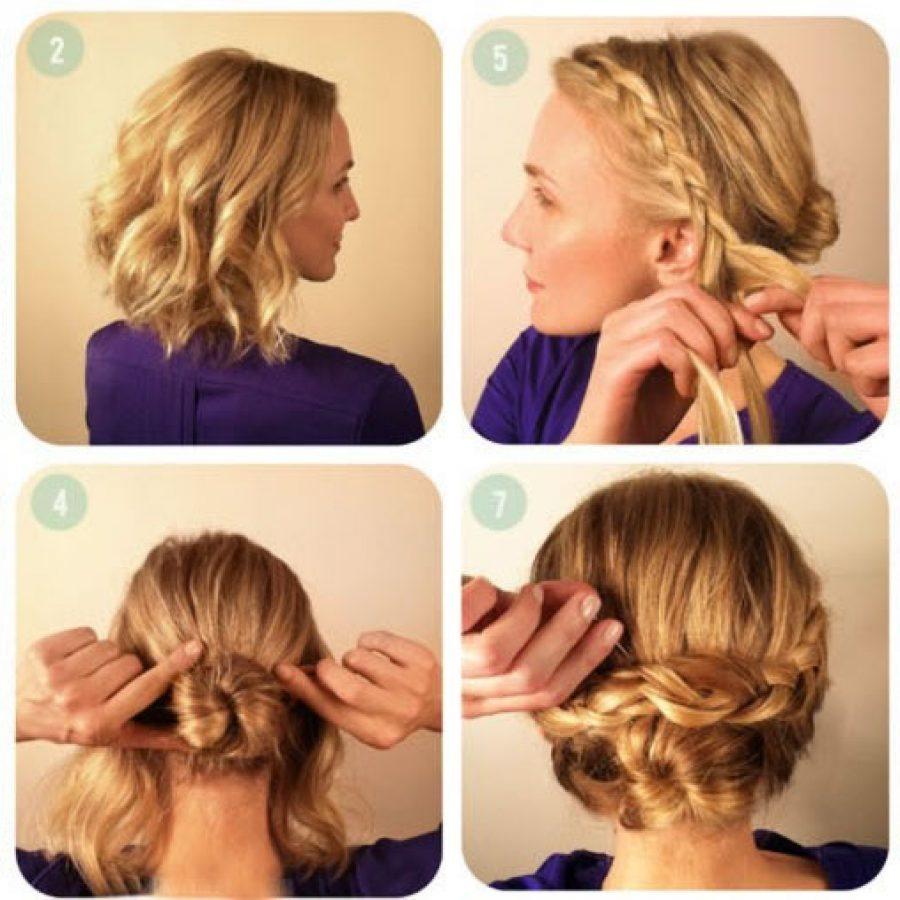 Плетение волос для коротких