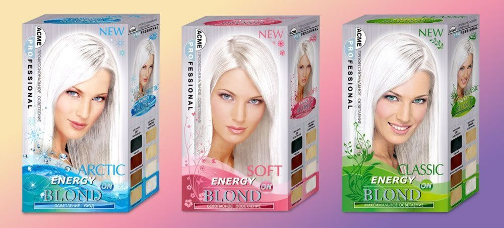 Осветлители для волос блонд