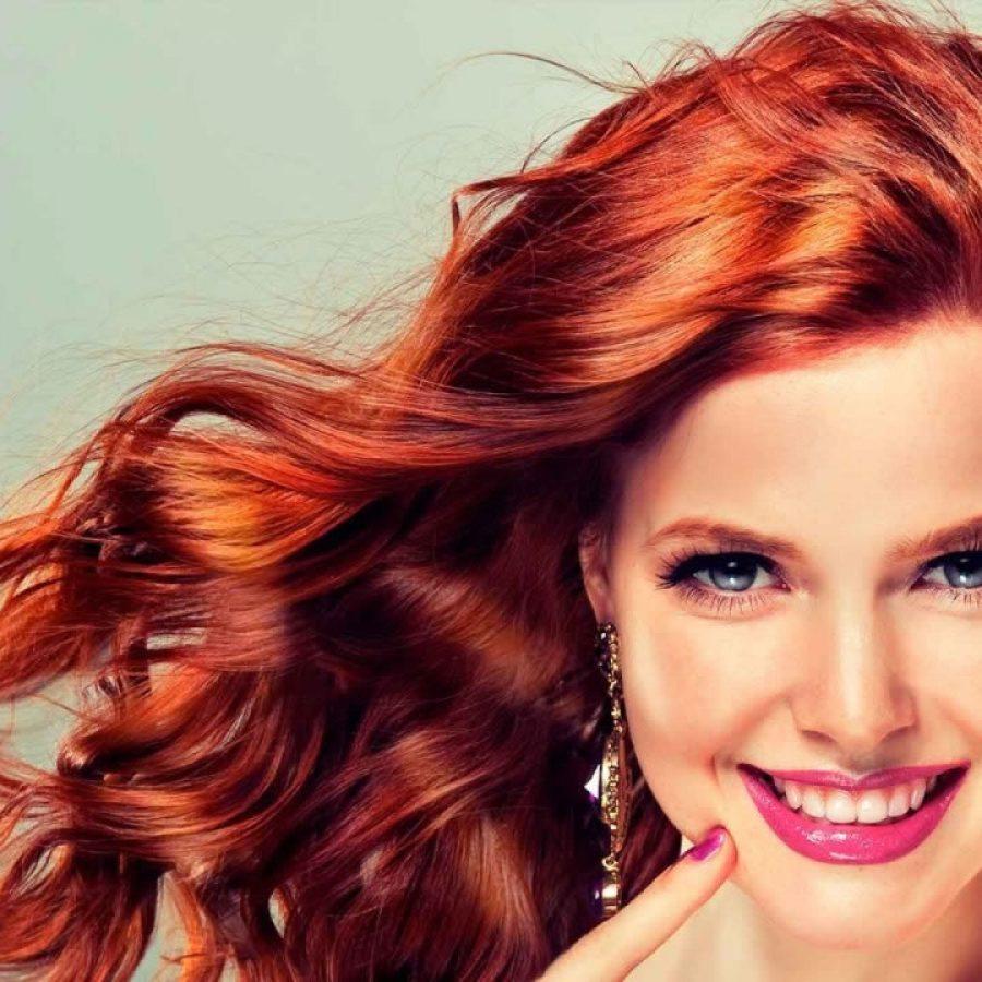 Бордовый цвет волос хной