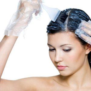 Пошаговый процесс окраски волос