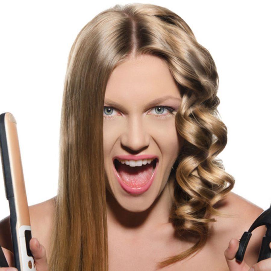 Частая укладка наносит вред волосам