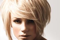 градуированное каре придаст объем волосам