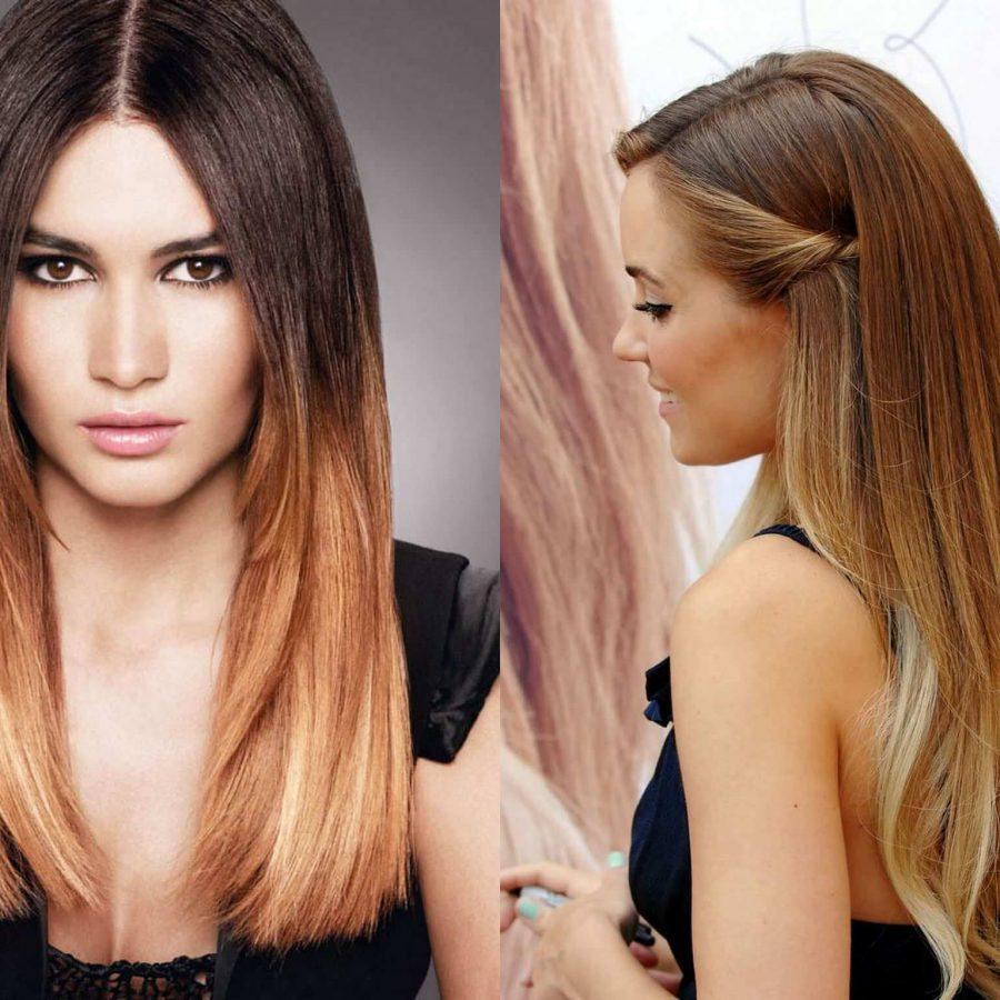 Модная окраска волос