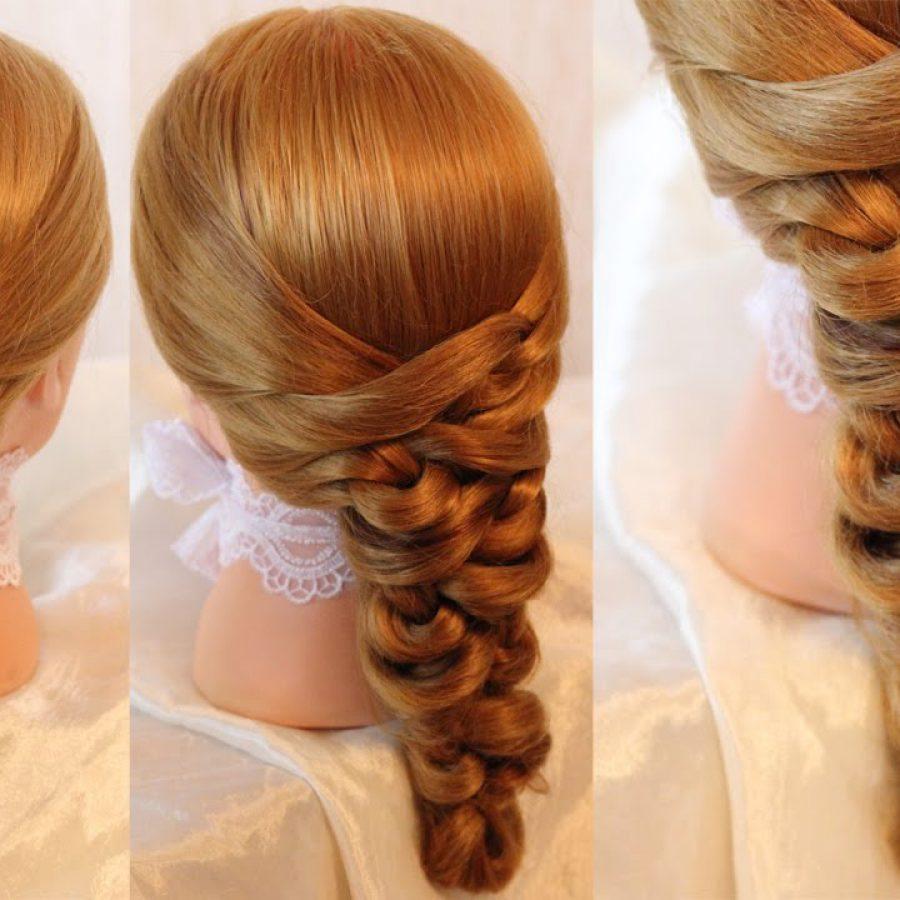 Объемная коса прическа