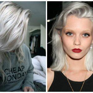 Девушки с серым цветом волос