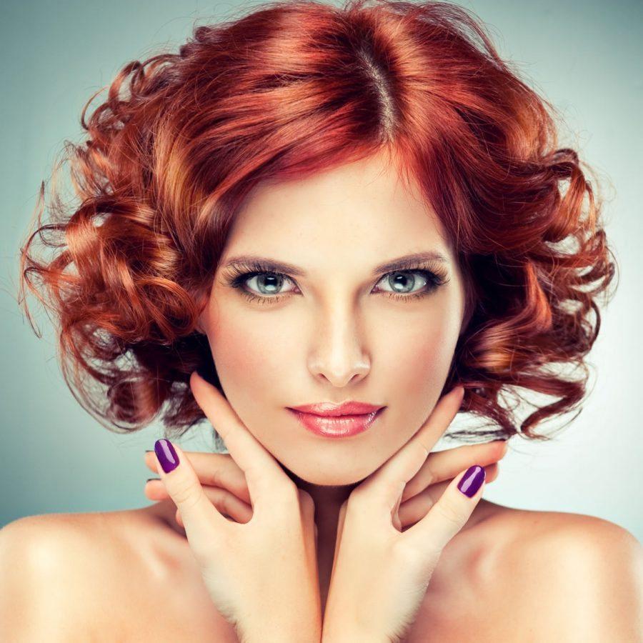 Химия крупные локоны на волосы средней длины