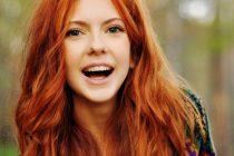 Девушка с рыжим цветом волос окрашивание хной