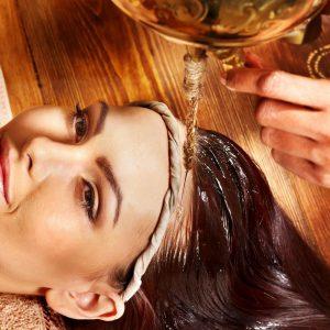 как сделать масляный массаж головы