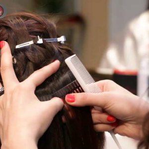 Наращивание волос процесс